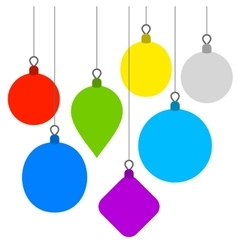 Christmas background with flat balls vector
