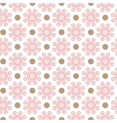 Delicate lovely seamless pattern tiling vector image vector image