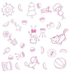Design doodle art for kids vector