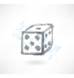dice grunge icon vector image