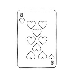 Eight of hearts french playing cards related icon vector