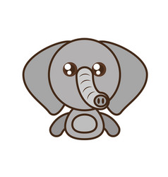 Elephant baby animal kawaii design vector