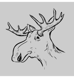 Elk deer mascot head vector