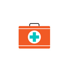 First aid box solid icon medical case and bag vector