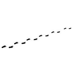 Footprint from foot vector