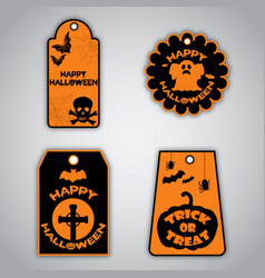 Halloween tags collection vector