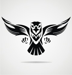 Hawk Bird Tribal vector image vector image