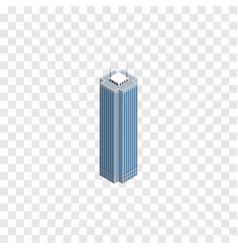 Isolated business center isometric skyscraper vector