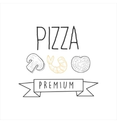 Mushroom shrimp and tomato premium quality vector