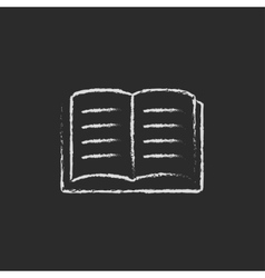 Open book icon drawn in chalk vector image vector image