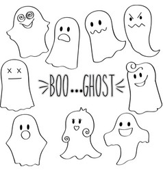 outline ghosts vector image vector image