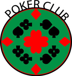 Poker club logo vector image