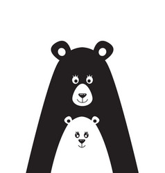 Poster with a picture of a bear and the little vector