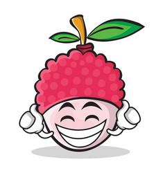 Proud lychee cartoon character style vector