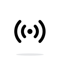 Radio waves icon on white background vector image