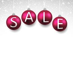 Sale realistic christmas balls vector