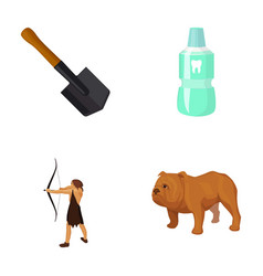 Sapper shovel tooth elixir and other web icon in vector