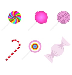 set of different sweetmeats vector image vector image
