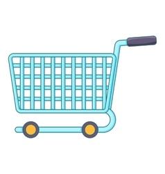 Shopping cart icon cartoon style vector