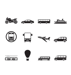 Silhouette travel and transportation of people vector