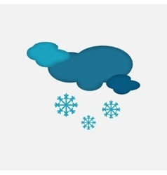Weather icon of the cloudy snowing sky vector