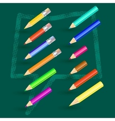 with pencils vector image vector image