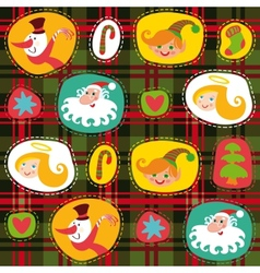 Christmas tartan plaid pattern background vector