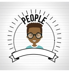 People person emblem connection vector