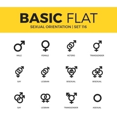 Basic set of sexual orientation icons vector
