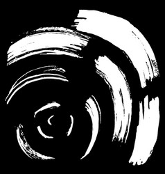 Black brush stroke in the form of a circle vector
