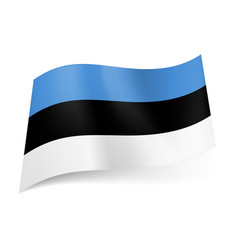 National flag of estonia blue black and white vector