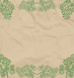 Eco beige wrapping design vector