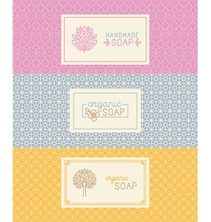 Soap packaging and wrapping paper vector