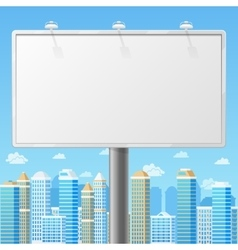 Blank billboard with urban background vector