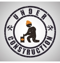 Under construction design tool icon isolated vector