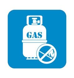 No fire gas bottle vector