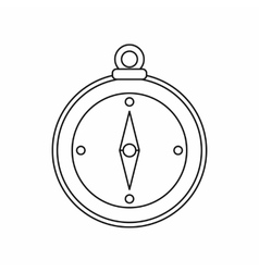 Compass icon outline style vector