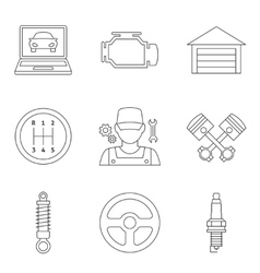 Auto service linear icons vol 2 vector image vector image