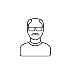 Avatar father adult man thin line icon linear vector