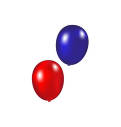 Balloons on a white background vector