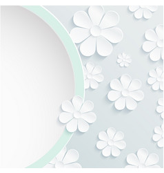 Beautiful wreath of spring flowers white daisies vector