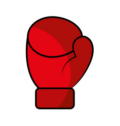 boxing gloves isolated icon vector image vector image