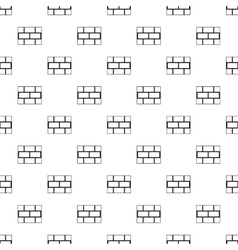 Brick wall pattern simple style vector