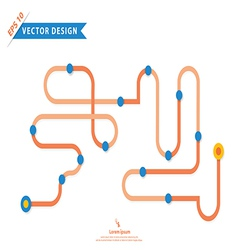 Colorful design for workflow layout vector image vector image