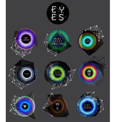 eyes collection human pupil vector image