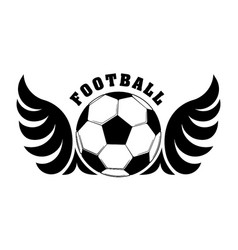 football design with black and white wings and vector image