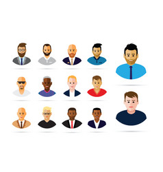group of men profiles vector image vector image