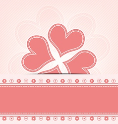 heart flower retro design vector image vector image