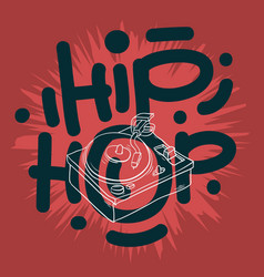 hip hop lettering custom type design with a vector image