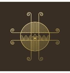 logo ethno on brown vector image